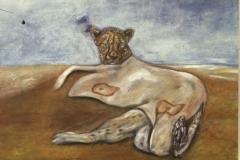 cheetah in human skin coat