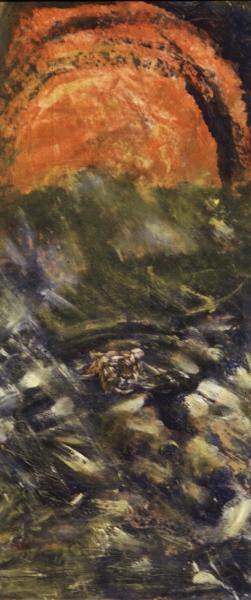 tiger burning